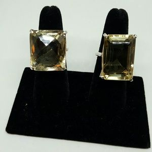 One or the other citrine colored quartz ring.